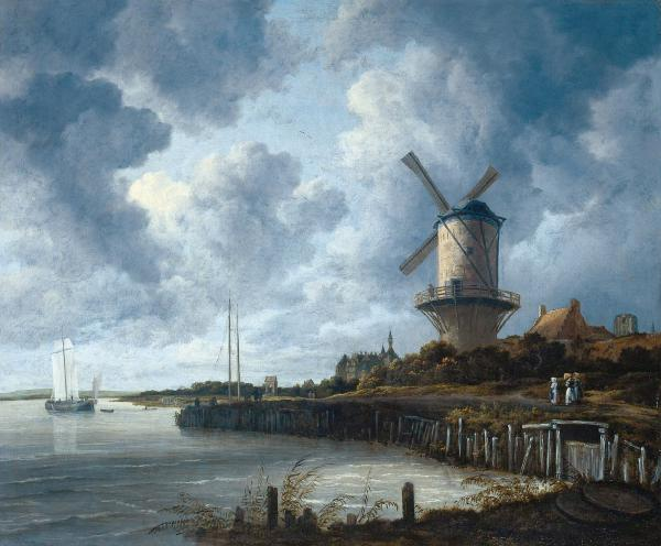Painting: the windmill at Wijk bij Duurstede by Jacob van Ruisdael 1670
